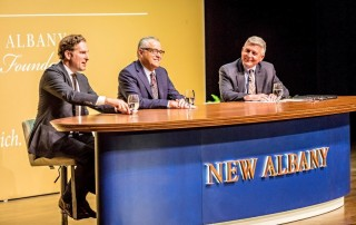 Harvard Law Professor and Bloomberg Columnist Noah Feldman, CNN Senior Analyst and bestselling author, Jeffrey Toobin and former Editor and Associate Publisher for The Columbus Dispatch, Mike Curtin.