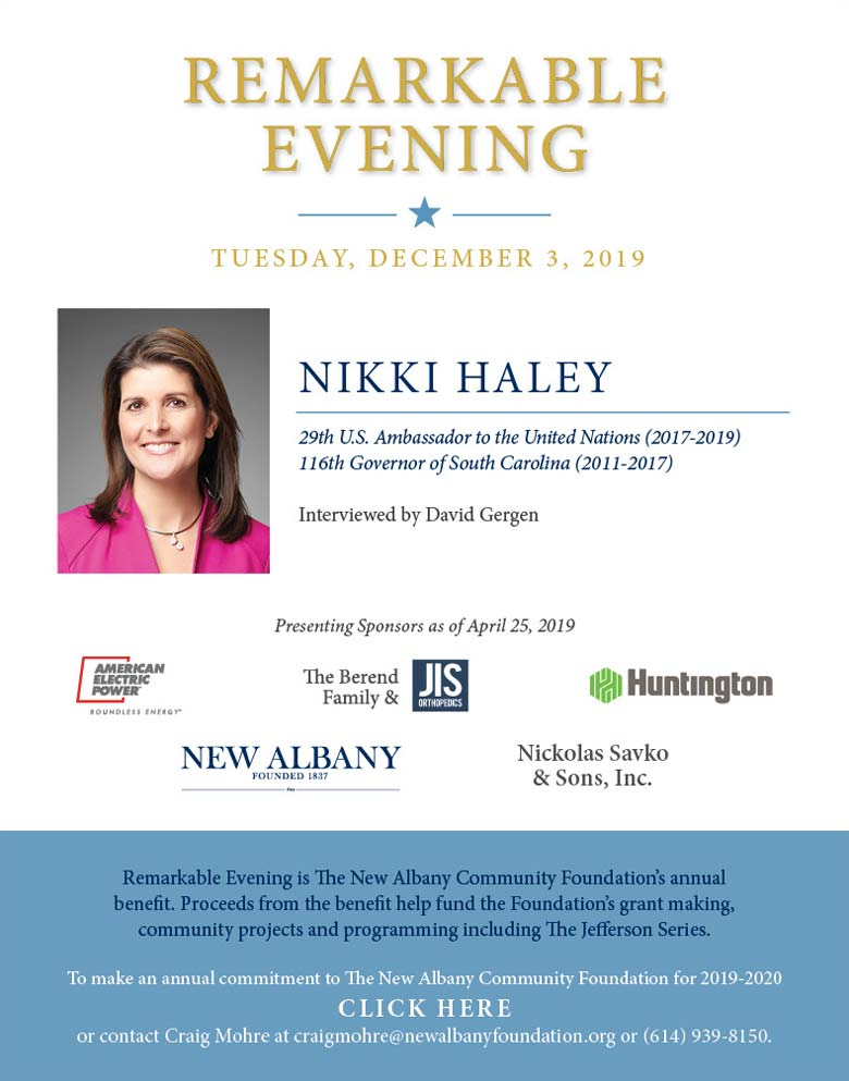 Remarkable Evening with Nikki Haley