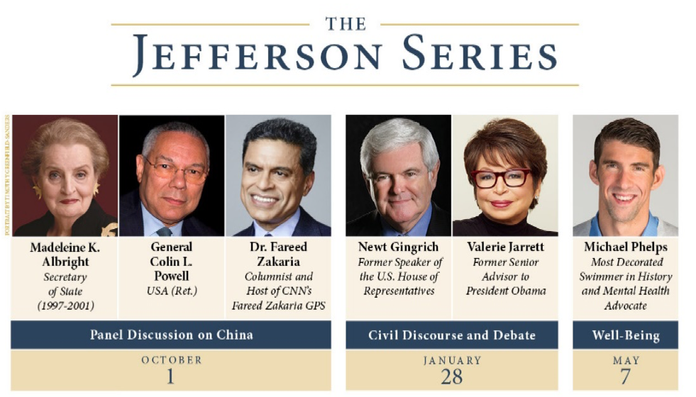 Jefferson Series Schedule