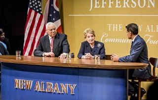General Colin Powell, Dr. Madeleine Albright, and Dr. Fareed Zakaria at the Jefferson Series event